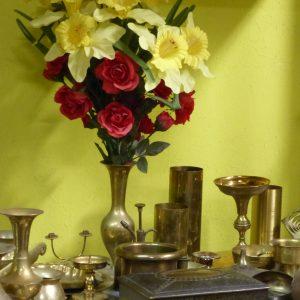 Messing Kerzenhalter Vasen ...