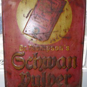 Dr. Thompson´s Schwan Pulver Emaille Schild